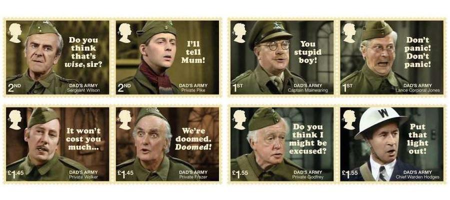 《老爸上战场》(Dad's Army)邮票